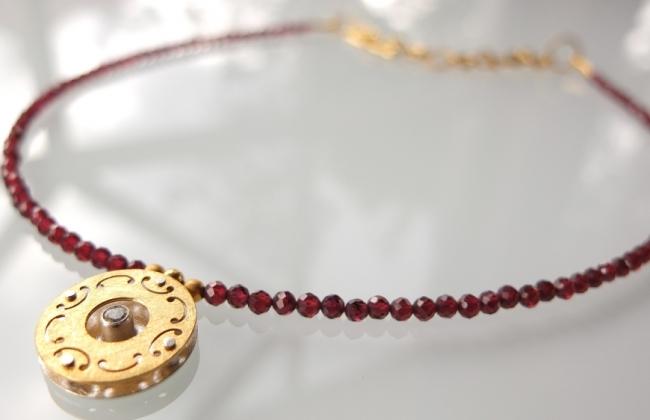 NOWOŚĆ: Naszyjnik Mandala Granaty